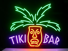 Tiki Bar Face Classic Neon Light Sign 17 x 14