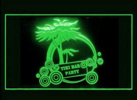 Tiki Bar Party 2 LED Neon Sign