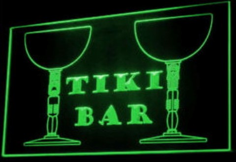 Tiki Bar beer pub LED Neon Sign