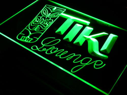 Tiki Lounge Mask Bar Pub Neon Light Sign