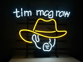 Tim McGraw Classic Neon Light Sign 17 x 14