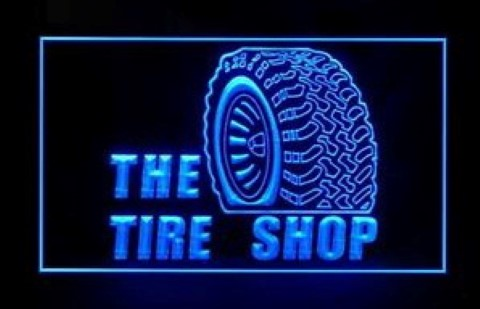 Tire Shop LED Neon Sign