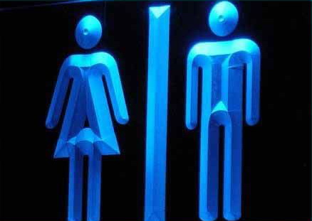 Toilet Washrooms Restrooms Display Light Signs
