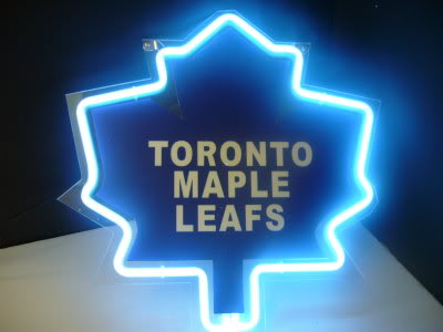 Toronto Maple Leafs Blue Neon Bar Mancave Sign
