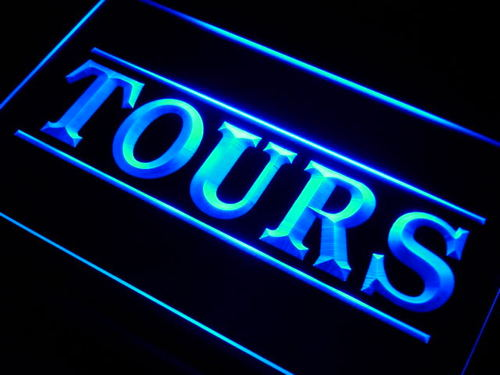 Tours Service Travel Agency Neon Light Sign