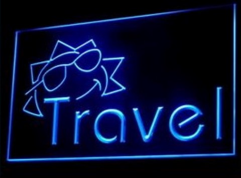 Travel Agency Sun Shine LED Neon Sign