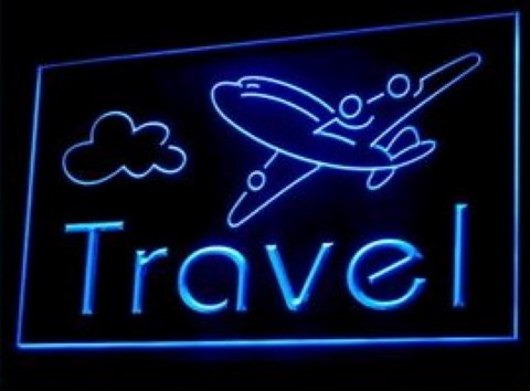 Travel Airline Ticket Agency LED Neon Sign