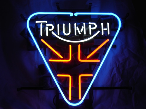 Triumph British Motorcyle Neon Light Sign 16 x 14