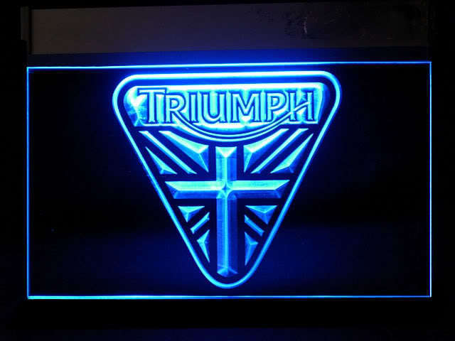 Triumph Union Jack LED Sign