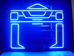 Tron Blue Classic Neon Light Sign 17 x 14