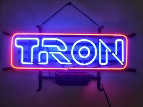 Tron Logo Board Blue Classic Neon Light Sign 17 x 14