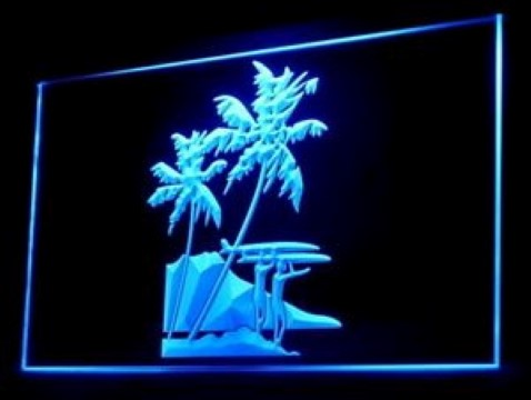 Tropical Surf Station LED Neon Sign