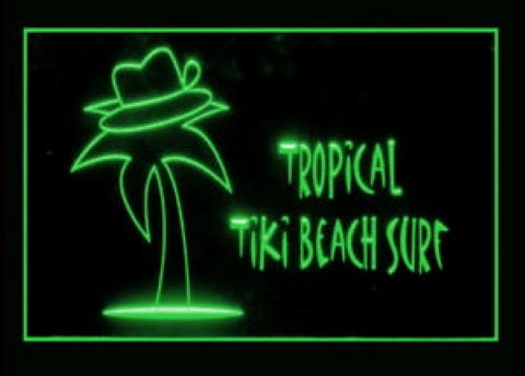 Tropical Tiki Beach Surf Shop LED Neon Sign
