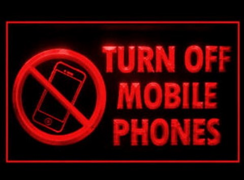 Turn Off Mobile Phones LED Neon Sign
