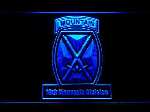 US Army 10th Mountain Division LED Neon Sign