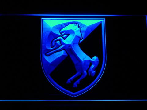 US Army 11th Armored Cavalry Regiment Blackhorse LED Neon Sign
