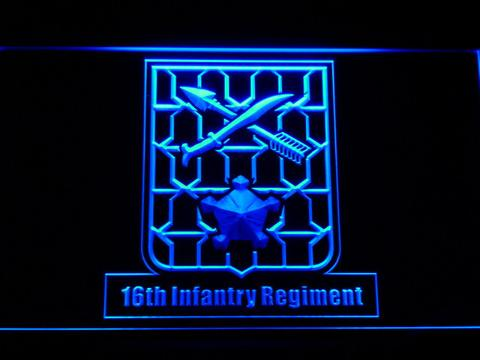 US Army 16th Infantry Regiment LED Neon Sign