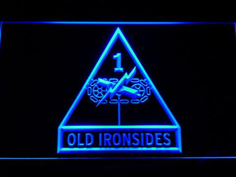 US Army 1st Armored Division Old Ironsides LED Neon Sign