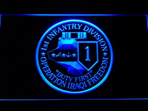US Army 1st Infantry Division Operation Iraqi Freedom LED Sign