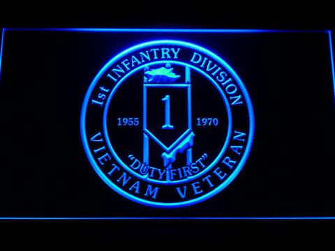 US Army 1st Infantry Division Vietnam Veteran LED Neon Sign