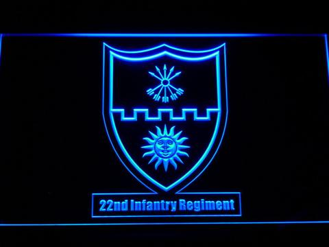 US Army 22nd Infantry Regiment LED Neon Sign