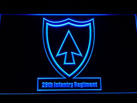 US Army 26th Infantry Regiment LED Neon Sign