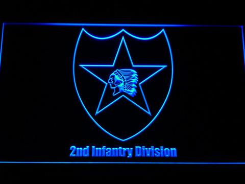 US Army 2nd Infantry Division LED Neon Sign