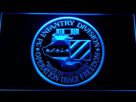 US Army 3rd Infantry Division Operation Iraqi Freedom LED Sign
