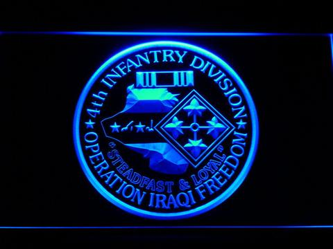 US Army 4th Infantry Division Operation Iraqi Freedom LED Sign
