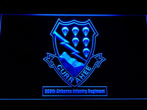 US Army 506th Airborne Infantry Regiment LED Neon Sign