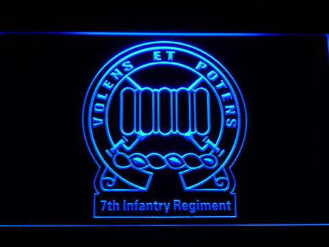 US Army 7th Infantry Regiment LED Neon Sign