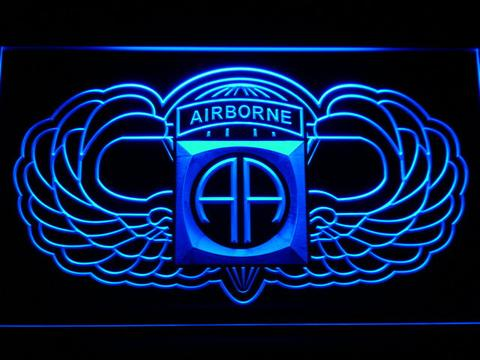 US Army 82nd Airborne Division Wings LED Neon Sign