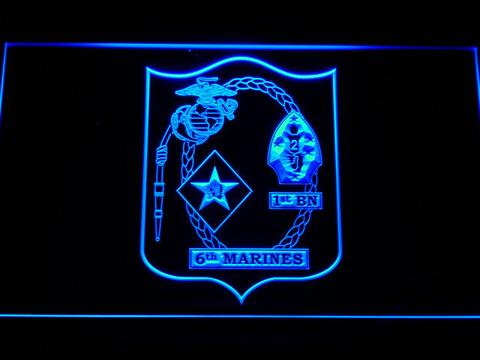US Marine Corps 1st Battalion 6th Marines LED Neon Sign