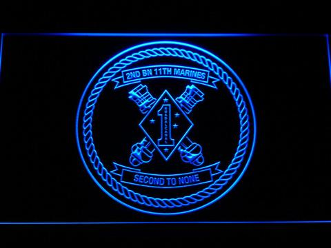 US Marine Corps 2nd Battalion 11th Marines LED Neon Sign