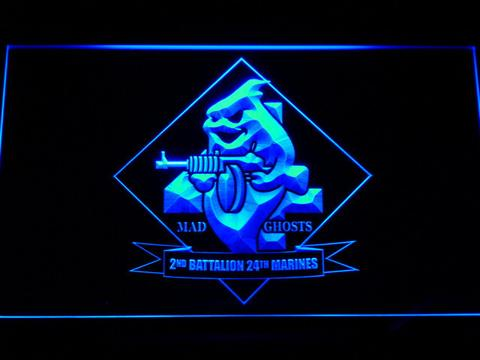 US Marine Corps 2nd Battalion 24th Marines LED Neon Sign