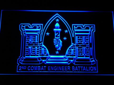 US Marine Corps 2nd Combat Engineer Marine LED Neon Sign