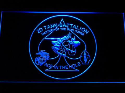 US Marine Corps 2nd Tank Battalion LED Neon Sign