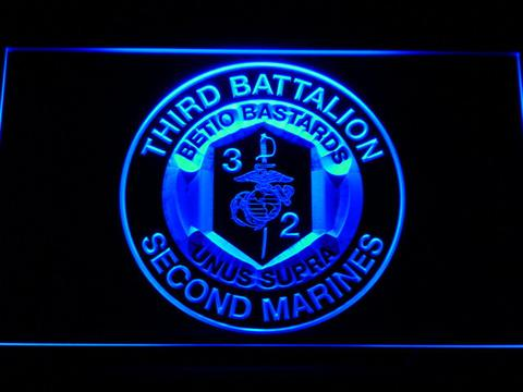 US Marine Corps 3rd Battalion 2nd Marines LED Neon Sign