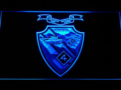 US Marine Corps 4th Tank Battalion LED Neon Sign