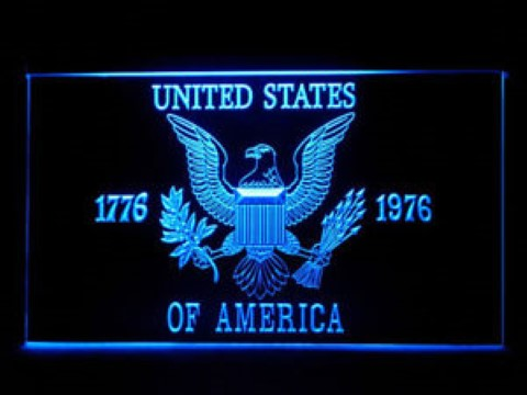 USA America 1776-1976 Eagle Flag LED Neon Sign