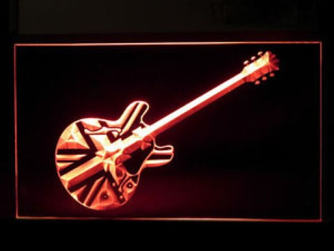 Union Jack Guitar LED Neon Sign