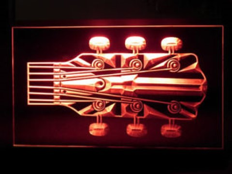 Union Jack Guitar Neck LED Neon Sign