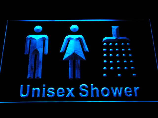 Unisex Men Women Male Female Shower Room Change Neon Light Sign