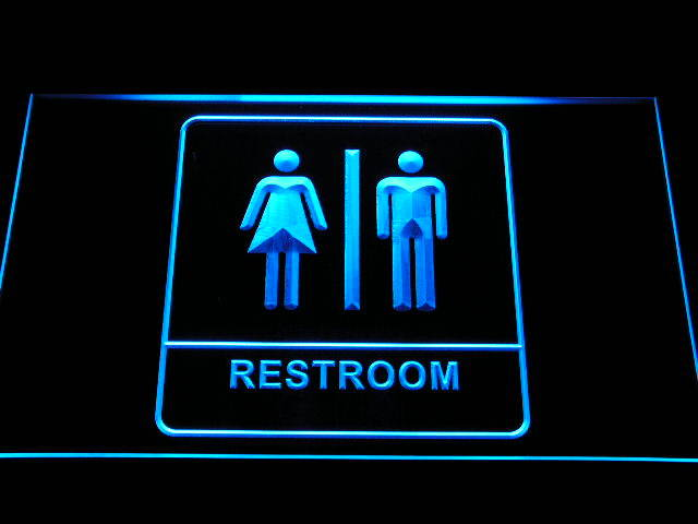 Unisex Men Women Male Female Restroom Toilet Washroom Neon Light