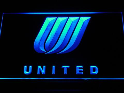 United Airlines Tulip Logo LED Neon Sign