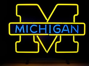 University of Michigan Classic Neon Light Sign 17 x 14