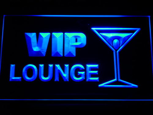 VIP Lounge Cocktails Neon Light Sign