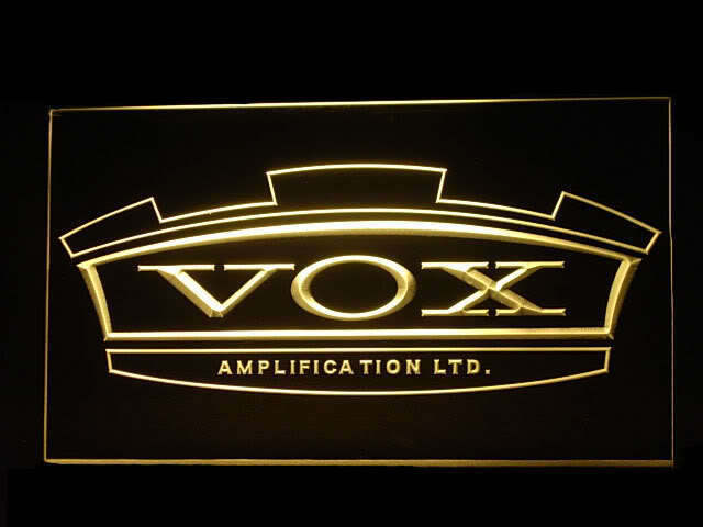 VOX Amplifier Guitar Display Led Light Sign
