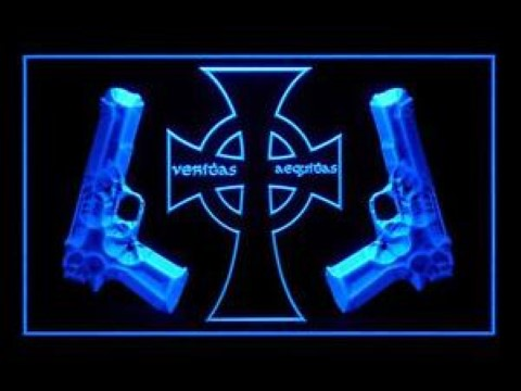 Veritas Aequitas The Boondock Saints LED Neon Sign