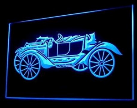 Vintage Car Old LED Neon Sign